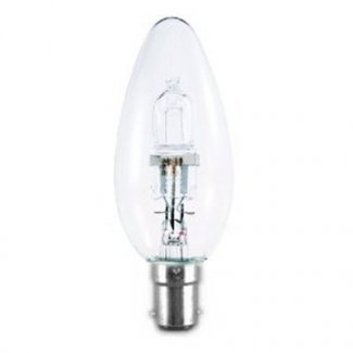 28Watt SBC Clear Halogen Candle Bulb