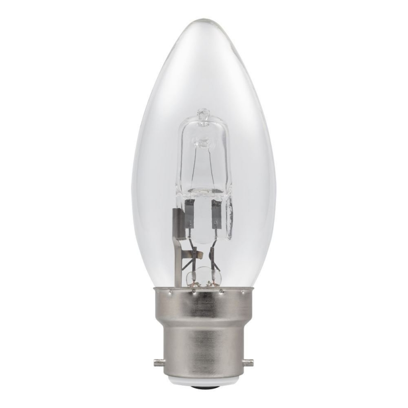 28Watt BC Clear Halogen Candle Bulb
