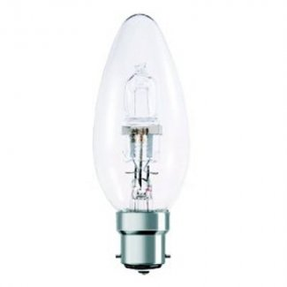 Luxina Halogen 28Watt BC Clear Candle Bulb