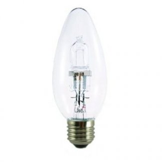 28Watt ES Clear Halogen Candle Bulb