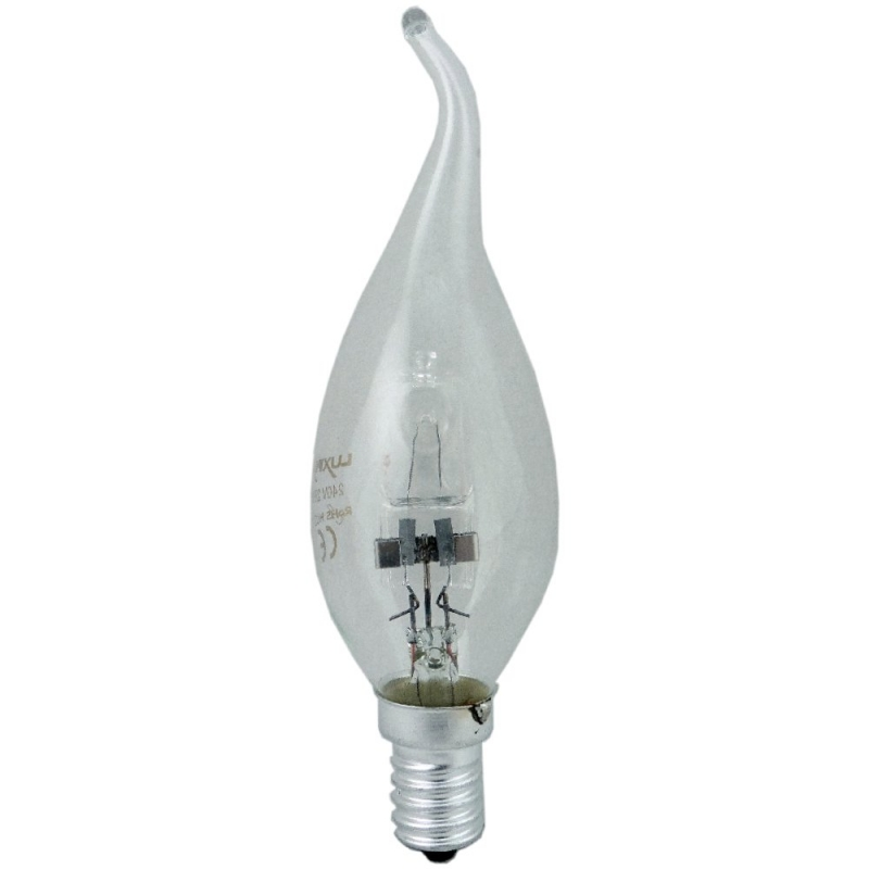 Luxina Halogen 28W Energy Saving Clear Flame Tip Candle SES