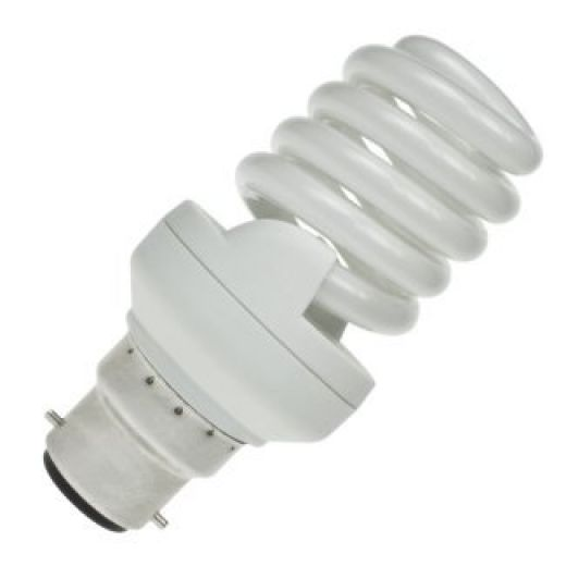 CFL 20Watt BC Evo T2 Ultra Compact Low Energy Helix Lamp 6400k