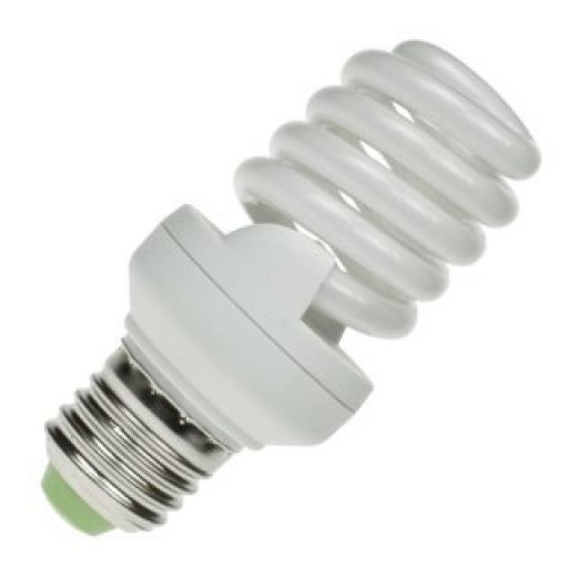 CFL 20Watt ES Evo T2 Ultra Compact Low Energy Helix Lamp 6400k