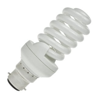 CFL 25Watt BC Evo T2 Ultra Compact Low Energy Helix Lamp