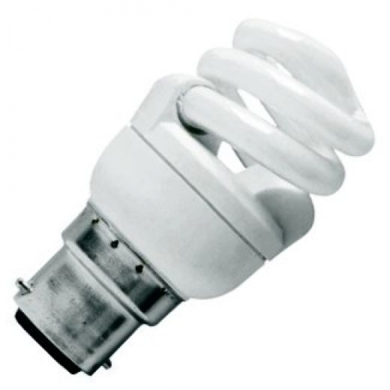 CFL 11Watt BC Evo T2 Ultra Compact Low Energy Helix Lamp
