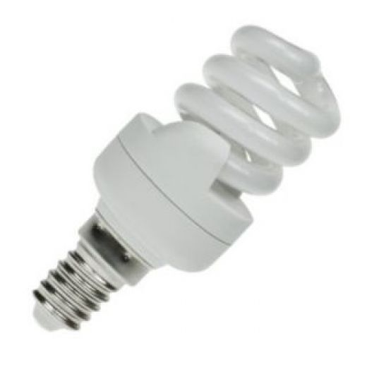 CFL 11Watt SES Evo T2 Ultra Compact Low Energy Helix Lamp 6400K