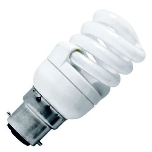 CFL Spiral 9 Watt BC 2700k Energy Saving Warmwhite Bulb