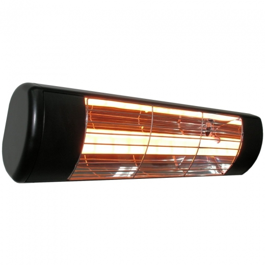 HLW15B Black Infrared 1500W Patio Heater With Standard Lamp