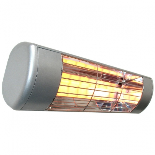 HLW15S Silver Infrared 1500W Patio Heater With Standard Lamp