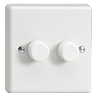 2 Gang 1 or 2 Way 2x 200Watt  Dimmer Switch