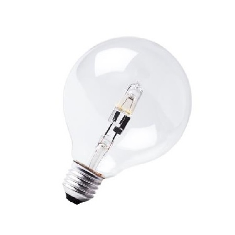 Halogen 125mm Globe 240V 18W ES/E27 Clear