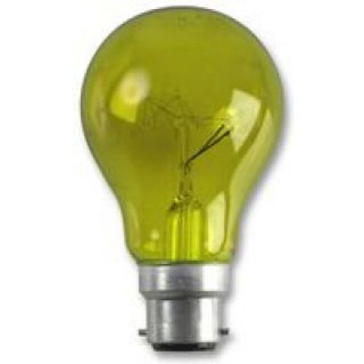 Crompton Harlequin Yellow 15Watt 240V BC Lamp