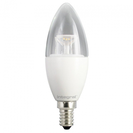 Integral LED Clear Candle 6.5W 2700K SES 47-16-92