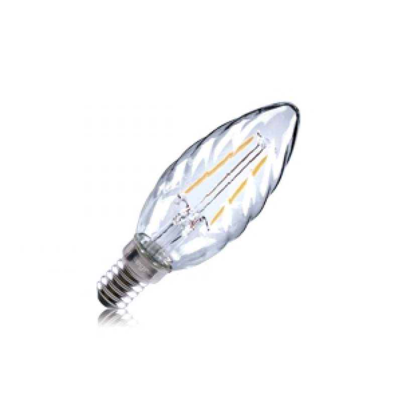 Integral LED 2W Filament Twisted Candle SES/E14 Omni LED Clear