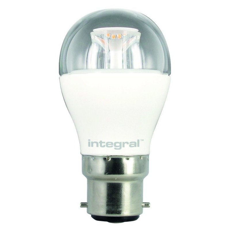 Integral LED Clear Golf Ball 5.4W 2700K 470lm BC Non-Dimmable 94-92-10