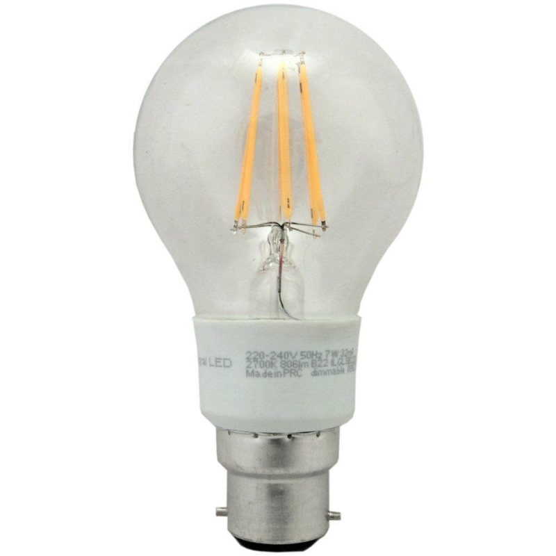 Integral 7W LED GLS BC Dimmable 2700K ILGLSB22DC037