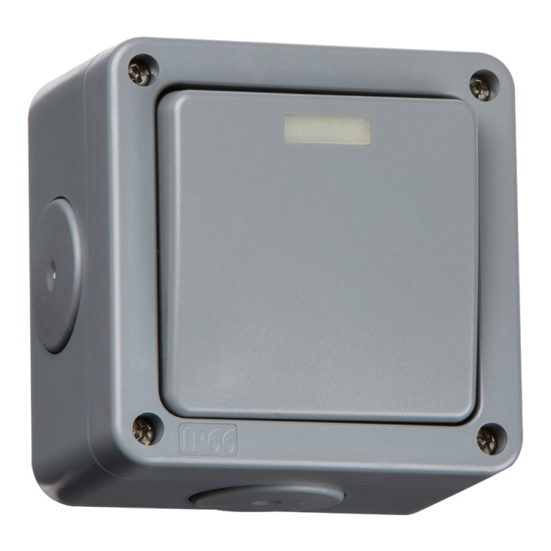 Knightsbridge IP66 10A 1Gang 2-Way Outdoor Switch IP2000