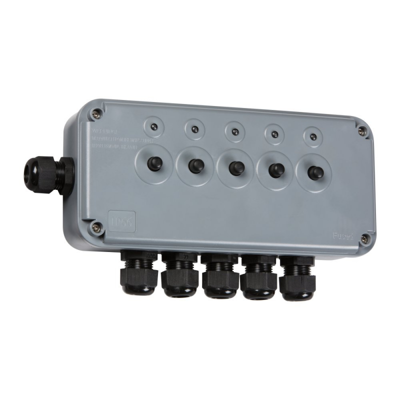 Knightsbridge IP66 13A 5Gang Outdoor Switch Box IP5G