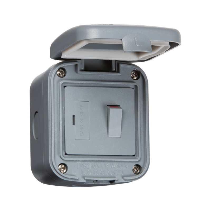 Knightsbridge IP66 13A Outdoor Switched Fused Spur Unit IP6300
