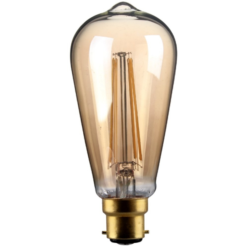 Kosnic LED 4W ST64 Squirrel Cage BC 400LM 2700K Warm White Gold