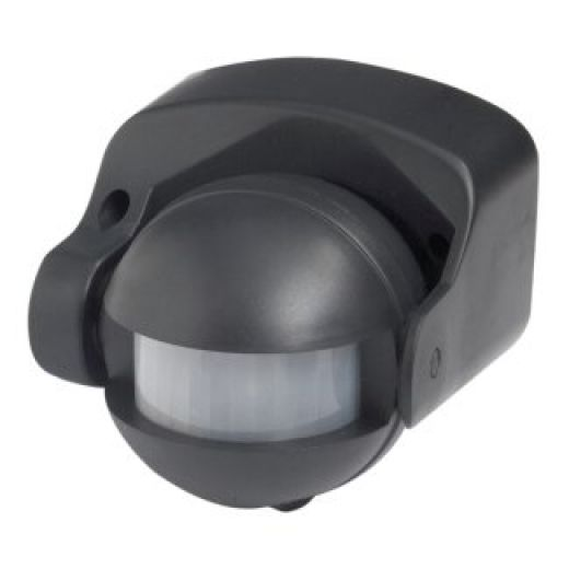 Robus External PIR Motion Waterproof Black L180B-04