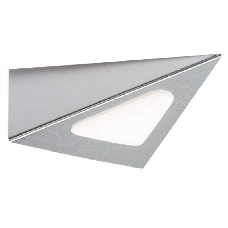 12V 3W Triangular LED Under Cabinet Downlight in Satin Chrome