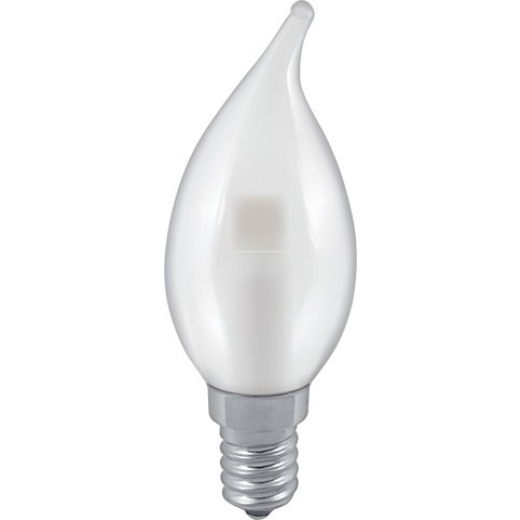 Osram 40w E14 Ses Led Filament Candle Bulb Warm White: Flame Tip Frosted/Pearl 40W SES E14 Candle Bulb