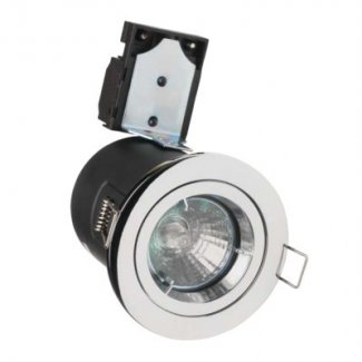 Chrome GU10 Fire Rated Downlight