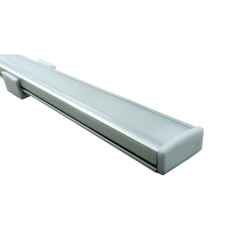 2x Led Under Cabinet Strip Lights 12w Led 12v Driver: Deltech LSTPRO 1 Metre Aluminium LED Striplight