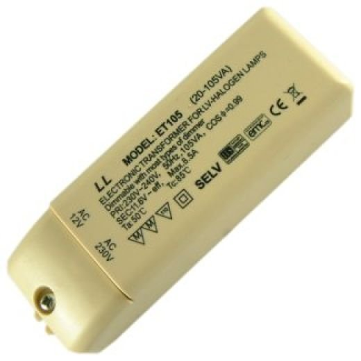 Electronic Dimmable Transformer 105Va LT105T