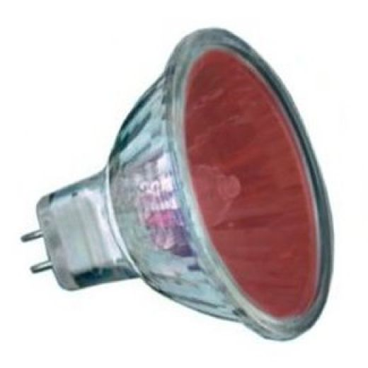 50Watt  2,000 Hour Red Low Voltage Dichroic Light Bulb