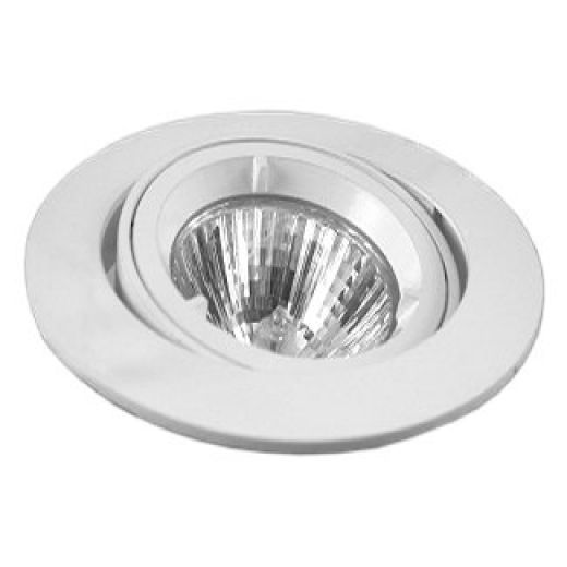 Round MR16 Tilt Die Cast Downlight White