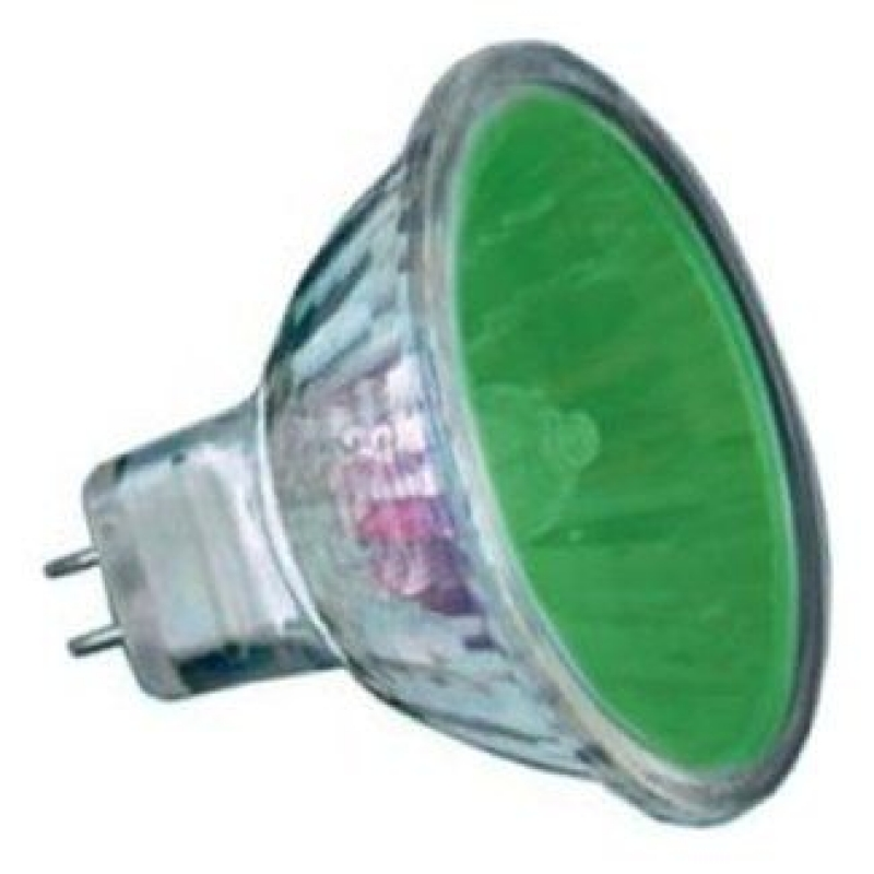 20 Watt  2,000 Hour Green Low Voltage Dichroic Light Bulb