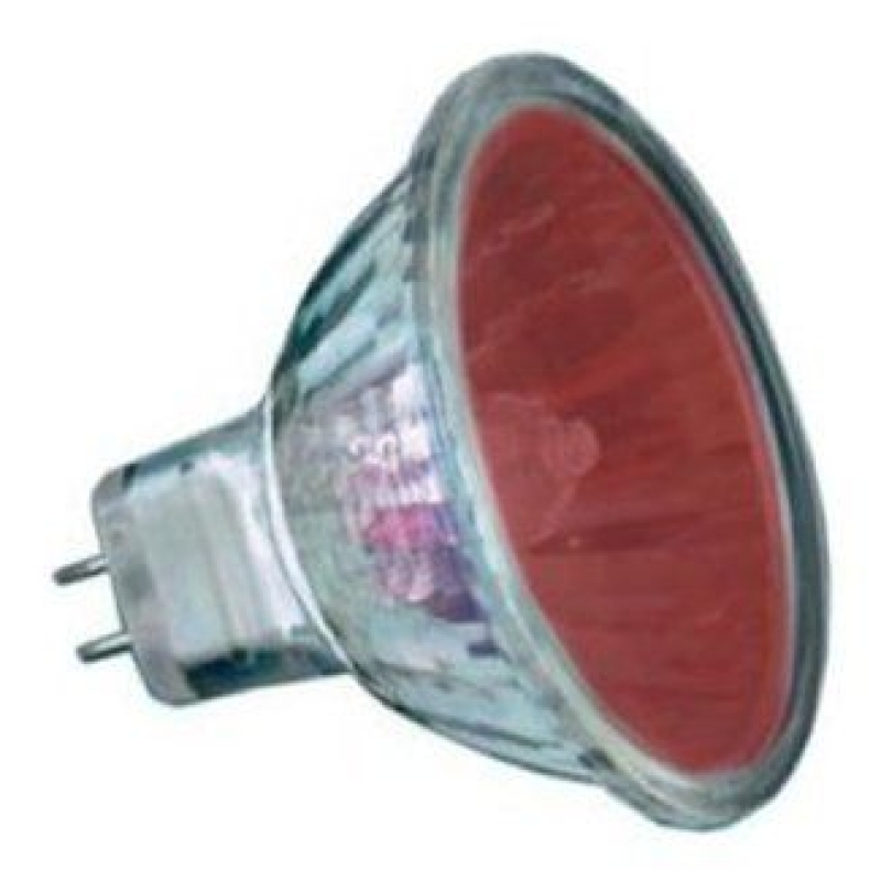 Red 12V 20W Halogen MR11 Dichroic Light Bulb