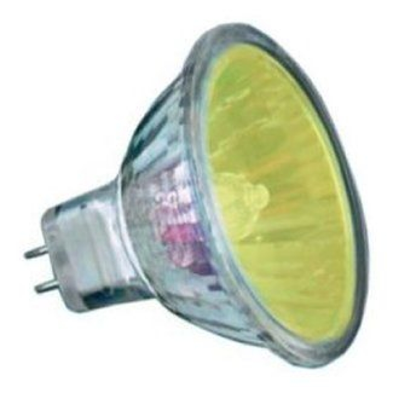 Yellow 12V 20W Halogen MR11 Dichroic Light Bulb