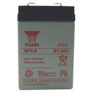 Yuasa Sealed Acid Battery 6V 4ah