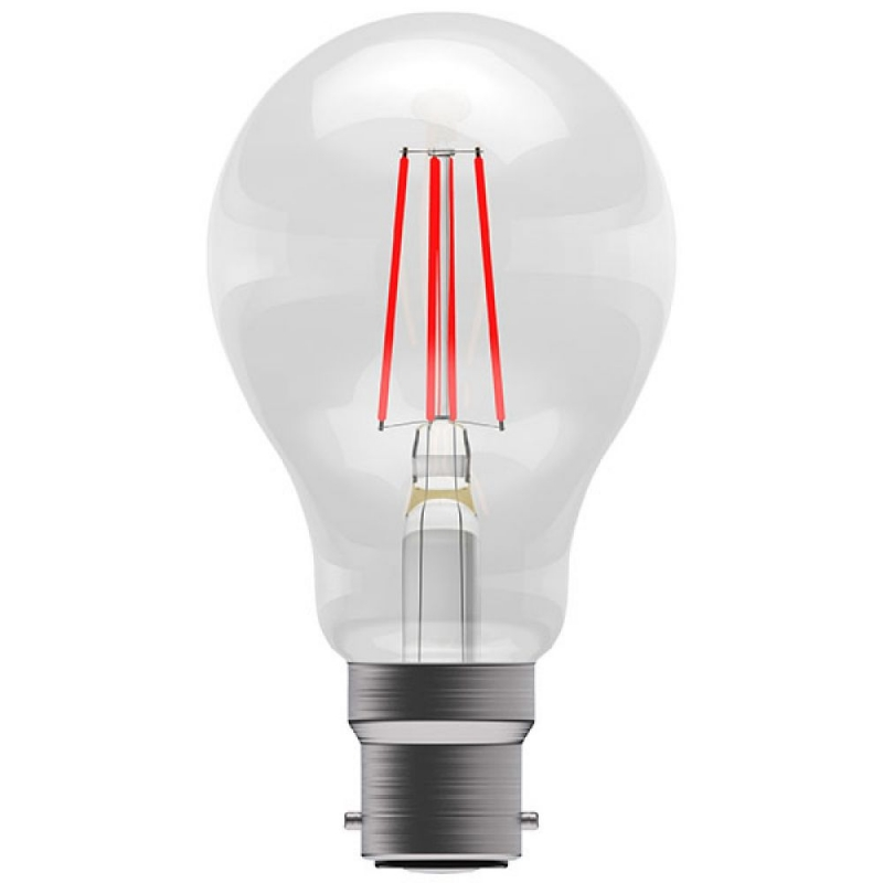 BELL 60067 4W Red Coloured LED Filament GLS BC/B22 Bulb