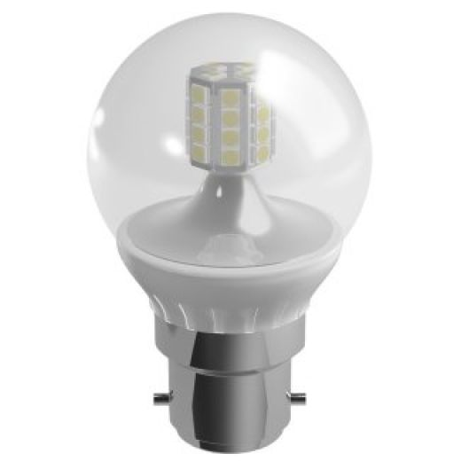 Duracell LED 3.5W Mini Globe Clear BC Warm White Dimmable S6902