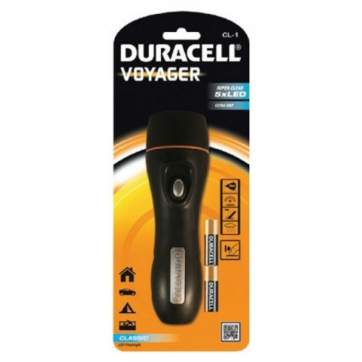 Duracell CL-1 Voyager Water Resistant Rubber LED Torch