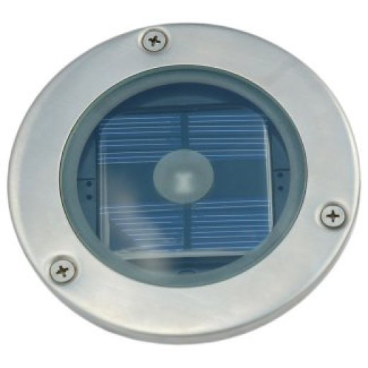 SS7542 Solar Powered Stainless Steel Round Deck Light