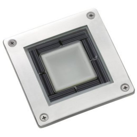 SS7543 Square Solar Powered Stainless Steel Deck Light