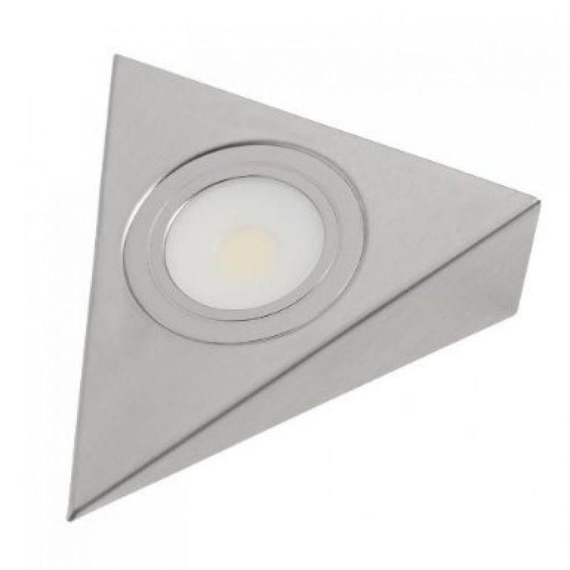 Leyton Lighting 12V 3W COB LED Triangle (stainless steel, cool white)