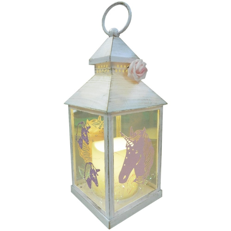 Unicorn Lantern with LED Flameless Candle