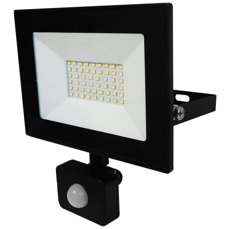 Eterna 30W IP44 LED Floodlight with PIR 4000K VECOF30PIR