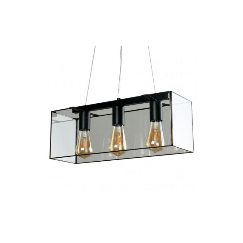 Gabbia 3 Way Caged Black Pendant Ceiling Light