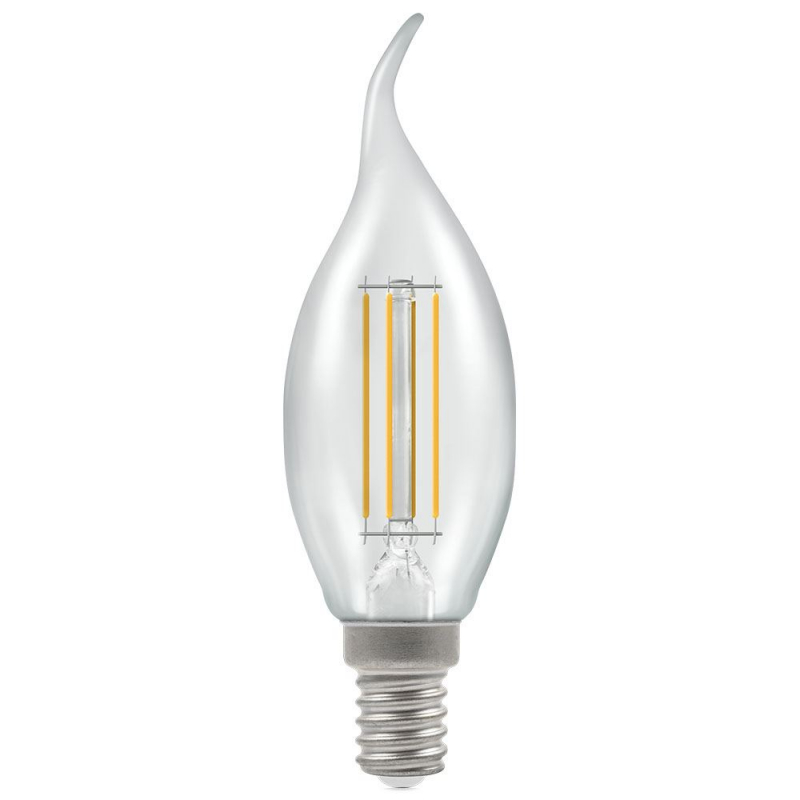Crompton 12165 5w SES-E14 Dimmable LED Bent-Tip Filament Candle
