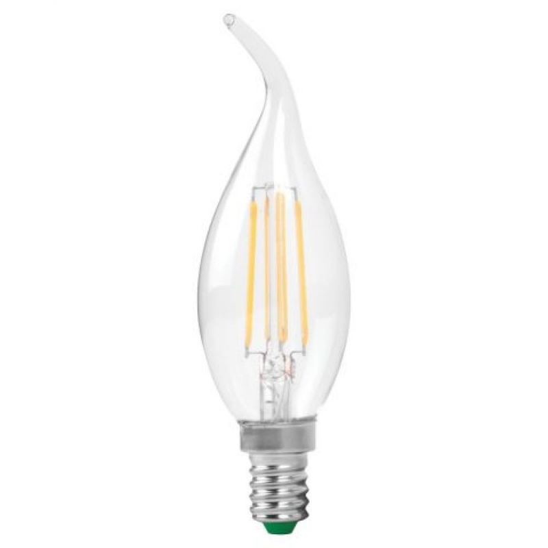 LyvEco 4612 4W Flame Tip Filament Candle  SES 2700k