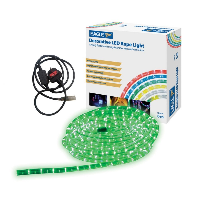 Green LED Indoor and Outdoor Rope Light 6 Metre G601AC