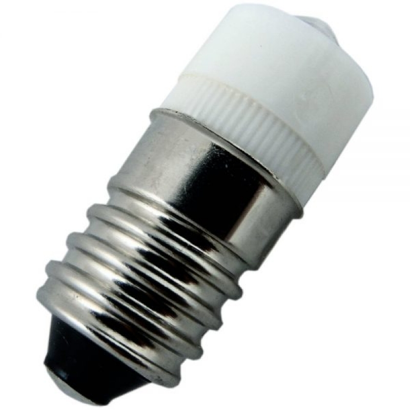 Miniature LED Indicator E10 6V AC/DC White Lamp SCE106VACDC